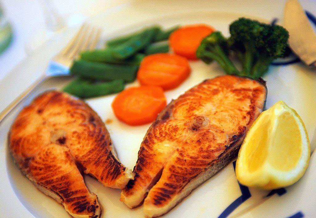 ماهی شیر سرخ شده