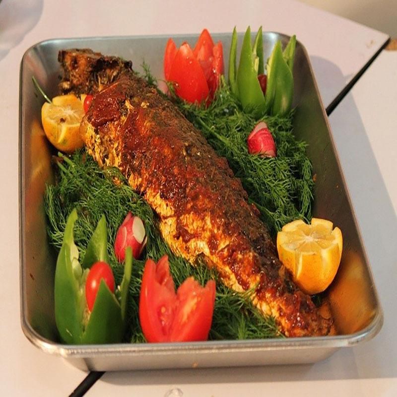 خوراک ماهی تنوری