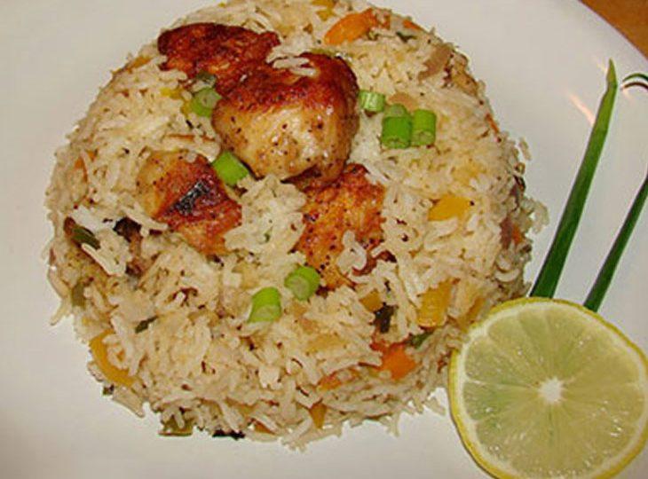 طرز تهیه پلوی چینی با ماهی