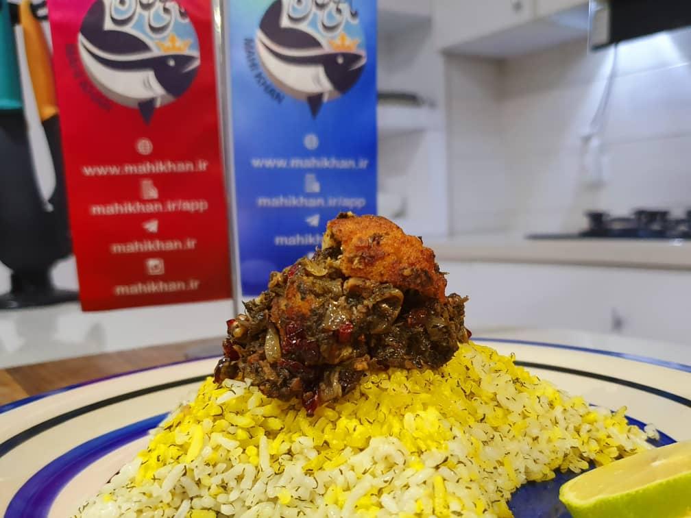 ماهی پلو با تمر هند