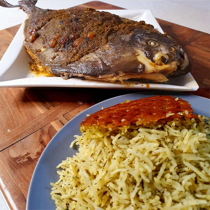 ماهی حلوا سیاه شکم پر